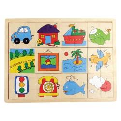 IMP-EX Drevené puzzle - Nájdi druhú polovičku! - Doprava