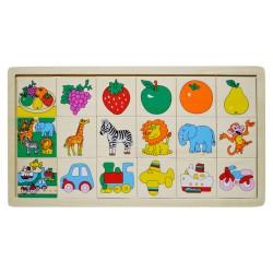 IMP-EX Drevené puzzle malé - Nájdi a priraď! - Ovocie