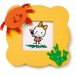 Detský drevený rámik na fotku - krab