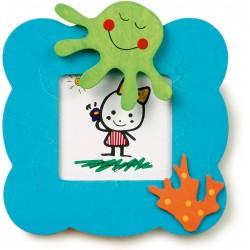 Detský drevený rámik na fotku - chobotnica