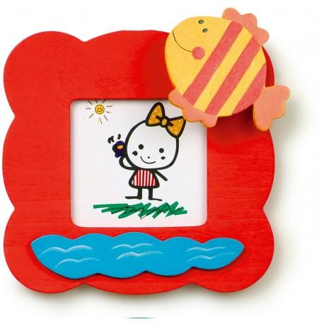 Detský drevený rámik na fotku - rybka