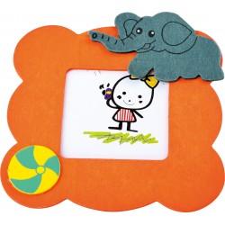 Detský drevený rámik na fotku - sloník