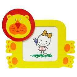 Detský drevený rámik na fotku - lev