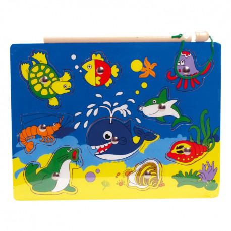 VIGA Magnetické puzzle - vel'ryba a jej kamaráti