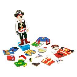 VIGA Drevené puzzle - obliekanie figuríny - Chlapček