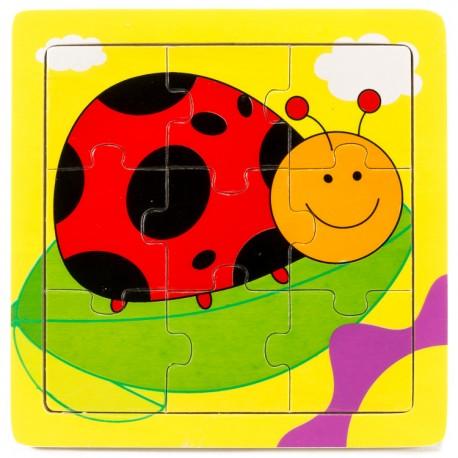 IMP-EX Drevené puzzle pre najmenších - Lienka