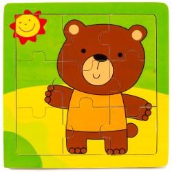 IMP-EX Drevené puzzle pre najmenších - Macko a slniečko