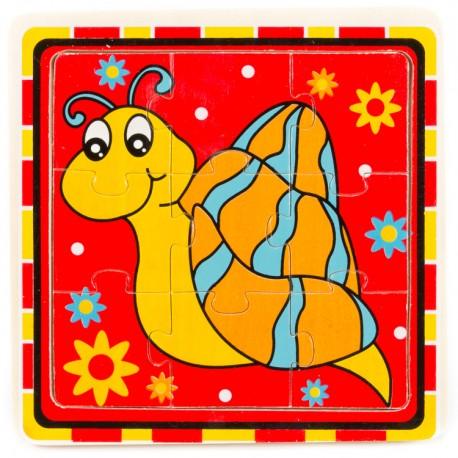 IMP-EX Drevené puzzle pre najmenších - Slimáčik