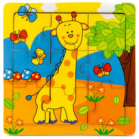 IMP-EX Drevené puzzle pre najmenších - Žirafa