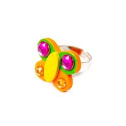 Detský prsteň - motýlik oranžový