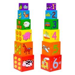 IMP-EX Drevená skladačka - Veža z kociek