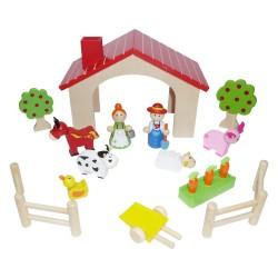 IMP-EX Drevená stavebnica - Farma mini