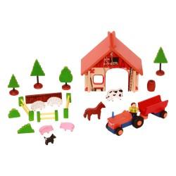 Drevená stavebnica - Farma s traktorom