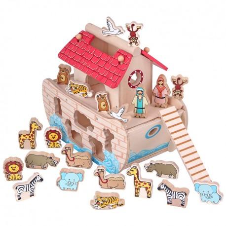 Mentari Drevená vkladačka - Noemova archa
