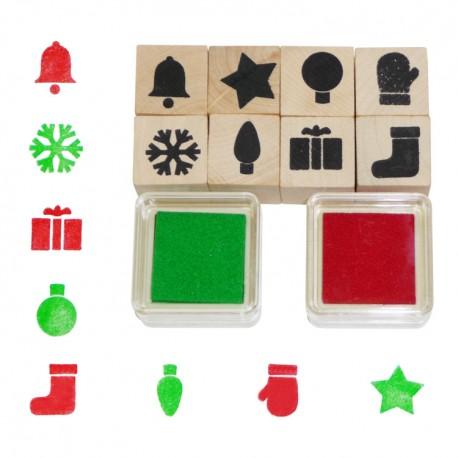 Detské pečiatky - 10-dielna sada - vianočné ozdoby