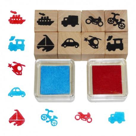 Detské pečiatky - 10-dielna sada - dopravné prostriedky