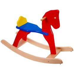 Drevený hojdací koník - farebný