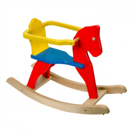IMP-EX Hojdací koník - farebný s ohrádkou