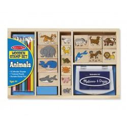 Melissa & Doug Detské pečiatky s farbičkami - Zvieratká