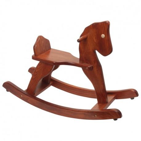 Drevený hojdací koník - hnedý