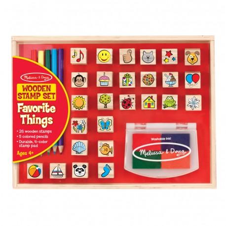Melissa & Doug Detské pečiatky s farbičkami - Moje obľúbené veci