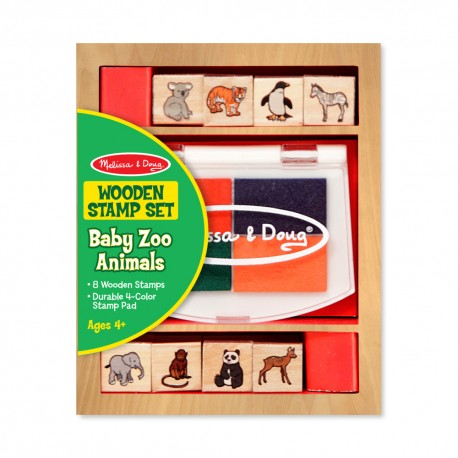 Melissa & Doug Detské pečiatky - malá sada - Zvieratká ZOO