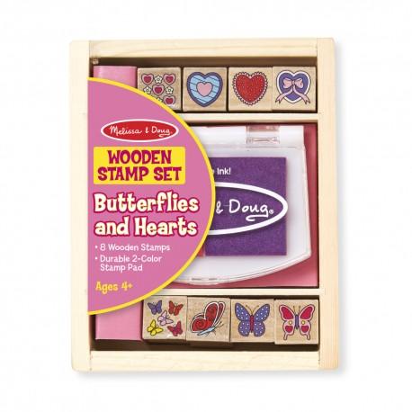 Melissa & Doug Detské pečiatky - malá sada - Motýliky a srdiečka