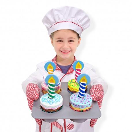Melissa & Doug Drevené muffiny Cupcake Set