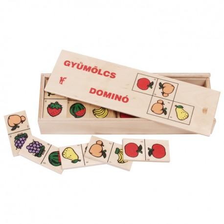 Drevené domino - Ovocie