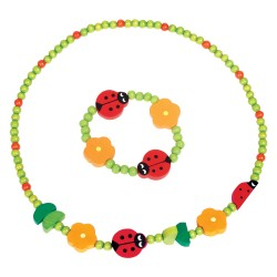 Detský náhrdelník + náramok - lienky