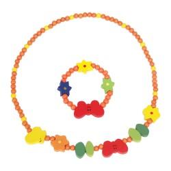 Detský náhrdelník + náramok - motýliky