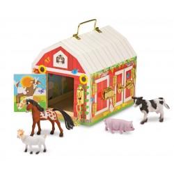 Melissa & Doug Drevená farma na zamykanie so zvieratkami