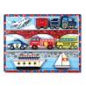 Drevené obrázkové puzzle s hrubými dielikmi - Dopravné prostriedky