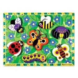 Melissa & Doug Drevené obrázkové puzzle s hrubými dielikmi - Hmyz