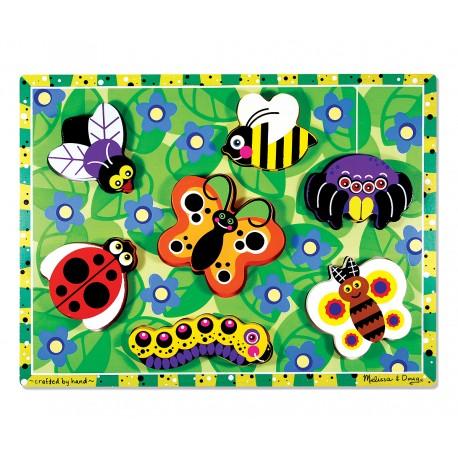 Drevené obrázkové puzzle s hrubými dielikmi - Hmyz