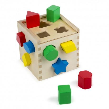 Drevená krabička na vkladanie tvarov - Melissa & Doug