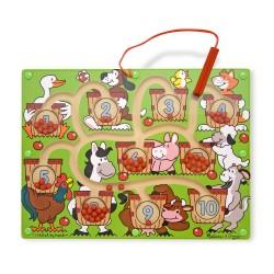 Melissa & Doug Drevený magnetický labyrint - Počítanie so zvieratkami