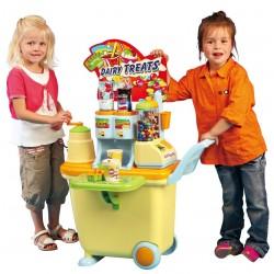 PLAY GO Detský predajný stánok na kolieskach Juice & Candy Bar