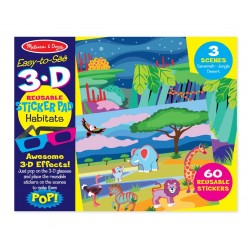 Melissa & Doug 3D Znovunalepiteľné samolepky - Zvieratká