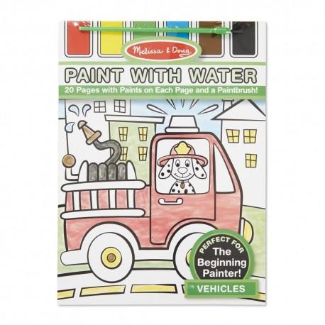 Maľovanie s vodou - dopravné prostriedky
