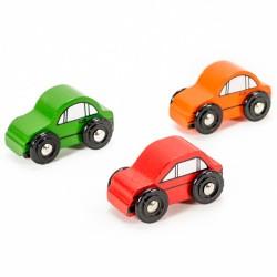 Mentari Drevené autíčka 3 kusy