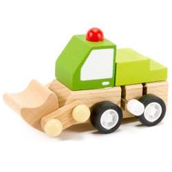 Drevené autíčko na zotrvačník - bager