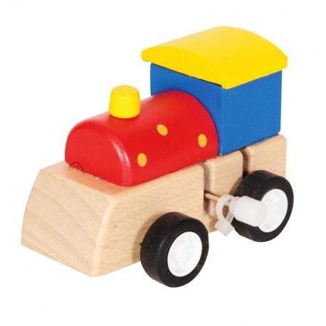 Drevené lokomotíva na zotrvačník