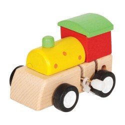 IMP-EX Drevená lokomotíva na zotrvačník - zelená