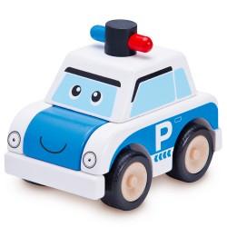 Wonderworld Drevené skladacie autíčko - Polícia