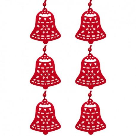 Ozdoby na vianočný stromček 6ks - zvončeky