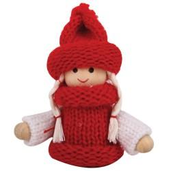 Ozdoba na vianočný stromček - dievčatko červené
