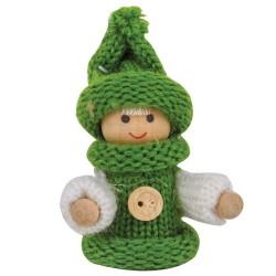 Ozdoba na vianočný stromček - chlapček zelený