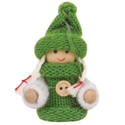 Ozdoba na vianočný stromček - dievčatko zelené
