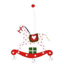 Ozdoba na vianočný stromček  z dreva - hojdací koník